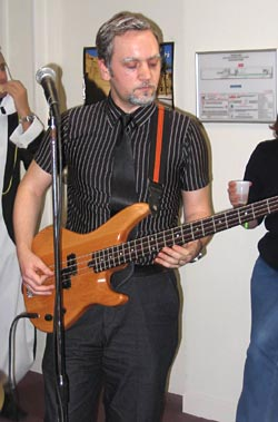 Yours Truly, Playing the Bass Guitar