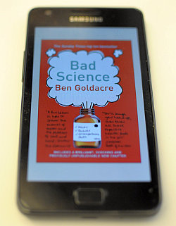 Cover of Bad Science as viewed on Kindle Android