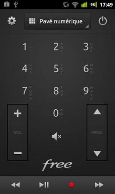 Freemote application screenshot